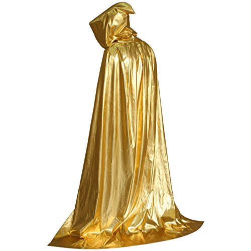 Wall of Dragon Halloween Long Cloak Cape Hooded Robe Vampire Wedding Witch Wicca Adult Costumes by Wall of Dragon
