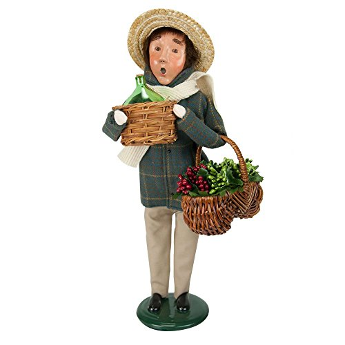 Byers' Choice Harvest Man - New for 2017 - Signed by Joyce Byers #ZMS237M Basket Hand Painted Signed