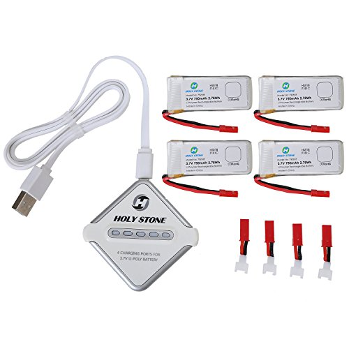 Holy-Stone-4-In-1-Battery-Charger-and-4Pcs-37V-750mAh-Rechargeable-Li-Po-RC-Drone-Batteries-for-F181CF181W