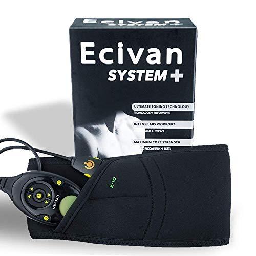試用無心アルバニーEcivan EMS 腹筋ベルトボディフィットスリム トレーニング 電気振動マッサージ 痩身マシン 電動器具腹巻き USB充電 150階段
