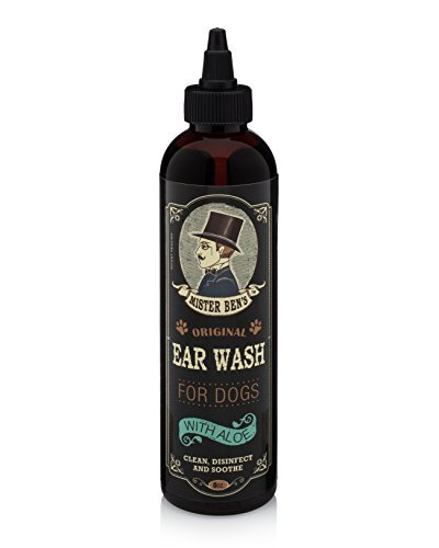 Ear Mite Relief - Mister Ben's Most Effective Dog Ear WASH Voted The Best Dog Ear Cleaner - Provides Fast Relief from Dog Ear Infections, Irritations, Itching, Odors, Bacteria, Mites, Fungus & Yeast