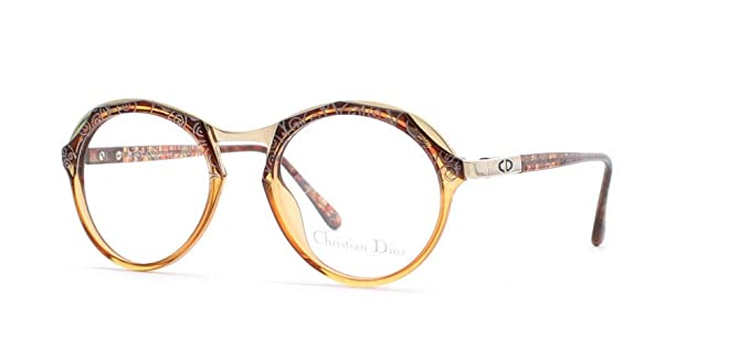 e1936d49dfed Image Unavailable. Image not available for. Color  Christian Dior 2624 80  Brown Authentic Women Vintage Eyeglasses Frame