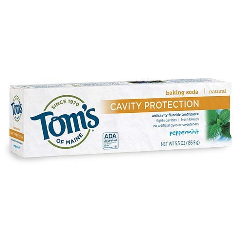 Maine Peppermint Baking Soda - Tom's Of Maine, Toothpaste Cavity Protection Peppermint Baking Soda, 5.5 Ounce