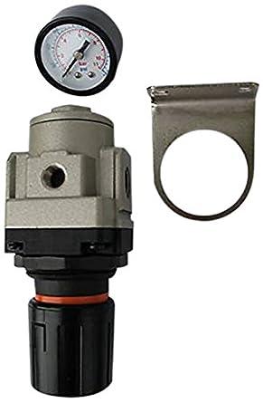 3//4 NPT AR4000-N06-10PK 6000 L//minute Pack of 10 Pack of 10 MettleAir AR4000-N06 Pressure Regulator with Gauge 3//4 NPT