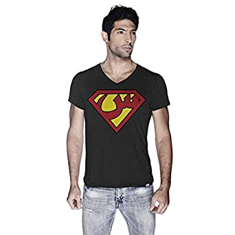Creo Superman Arabic Super Hero T-Shirt For Men - S, Black