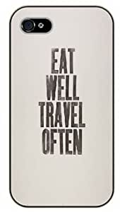 Diy For Iphone 5/5s Case Cover Eat well, travel often, black plastic Inspirational and motivational life quotes SURELOCK AUTHENTIC