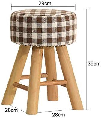Ccgdgft Solid Wood Kruk Mode Creatieve Bank Eetkruk Stof Kruk Thuis Make-up Kruk Dressing Kruk voetbank