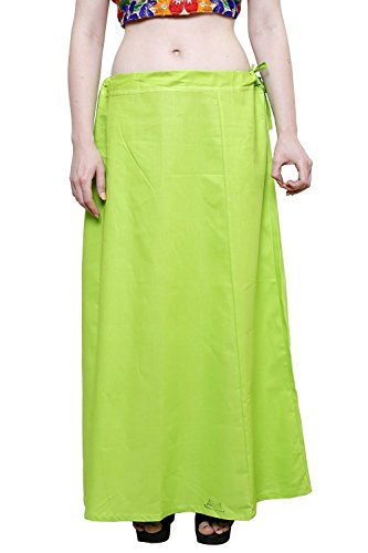 Aurielle Rogisse Mujer India Sari Algodón Enagua Bollywood Solid Inskirt Costuras Forro Enaguas Green