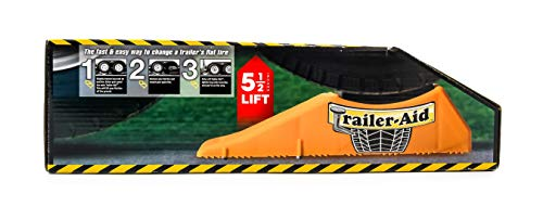 Block Aid - Trailer Aid Tandem Tire Changing Ramp, The Fast Easy Way To Change A Trailer's Flat Tire, Holds up to 15,000 lbs, 4.5 Inch Lift (Yellow)