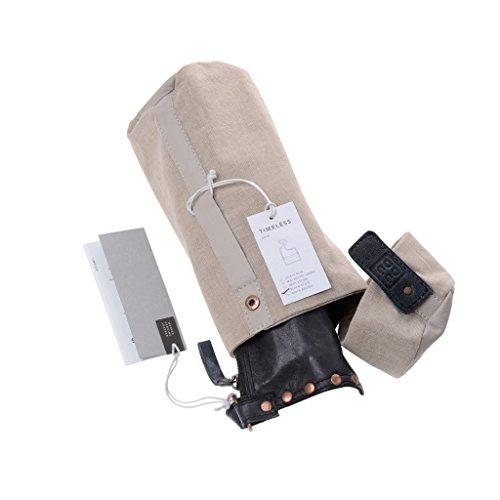 Borsa a tracolla donna in pelle lavata borchie e tracolla DUDU Black Slate