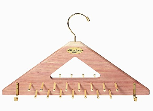 Woodlore Closets Natural Fresh Aromatic Cedar Tie & Belt Hanger
