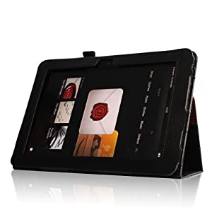 """Fintie Folio Case for Kindle Fire HD 8.9"""" - Slim Fit Leather Case with Auto Sleep/Wake for Amazon Kindle Fire HD 8.9 (will not fit HDX models) - Dual Color"""