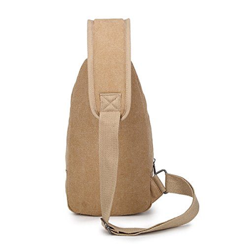 Canvas Messenger Brown1 Hombre Messenger Corset Bag E5Swq4z