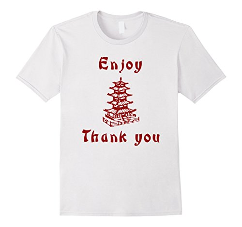 Chinese Man Costume Amazon (Mens Chinese Take Out Funny Halloween 2-Sided T-Shirt Medium White)
