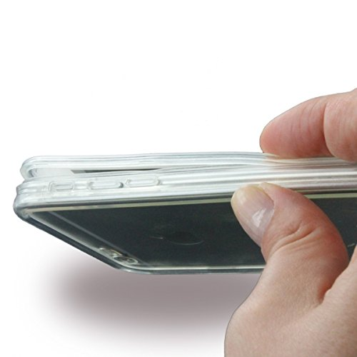 ureparts–Etui de protection étanche/Silicone Cover–Apple iPhone 6, 6S–Transparent/Noir