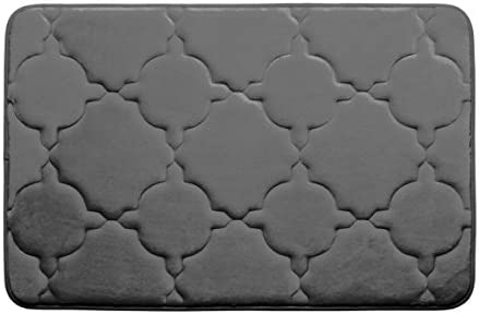 Amazon Com Dorothy Premium Extra Thick Memory Foam Bath Mat With Bouncecomfort Technology 17 X 24 Dark Grey Home Kitchen
