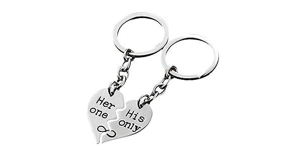 Amazon.com: Llavero romántico para pareja con diseño de ...