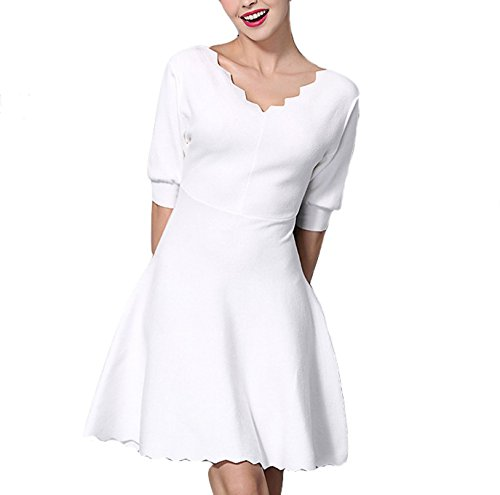 celebritystyle-white-scallped-knit-flare-dress-xs-white