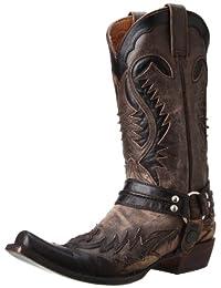 Stetson Snip Toe Harness W/ Bleach Boot