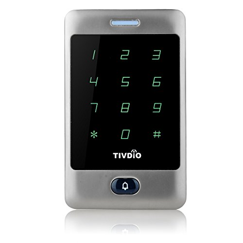 TIVDIO T-AC800 Access Control System Door Keypad Locks Touch Keypad Access Control Keypad Door Lock Outdoor 125KHz Back Light Keypad ID Support 8000 User (Silver) by TIVDIO