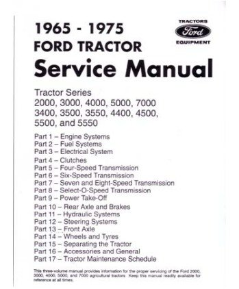 amazon com 1965 1975 ford tractor 2000 7000 service manual book rh amazon com Ford 5000 Tractor Wiring Diagram Ford 4630 Tractor Wiring Diagram
