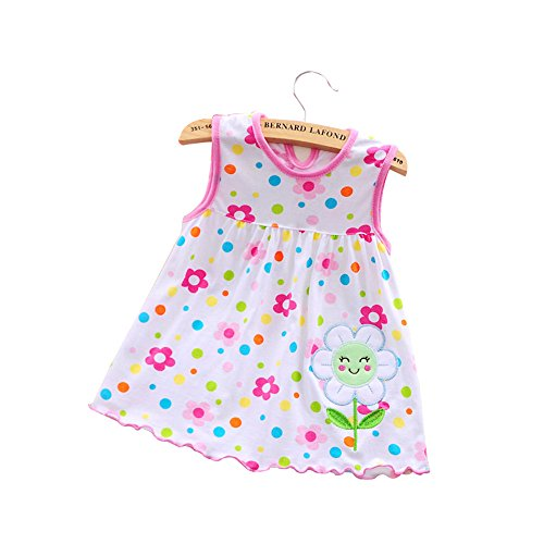 Muyan Happy Appliqued Sleeveless Dress for Baby Girl (Sunflower)