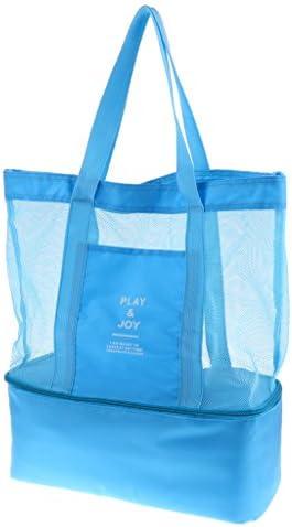二層 断熱バッグ クーラー メッシュバッグ 断熱バッグ 二重層キャンプ バッグピクニックバッグ