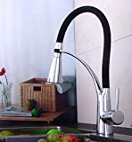 LED Three-Color Water Temperature Faucet Kitchen Sink Faucet