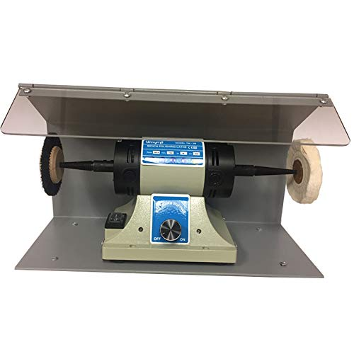 Polishing Motor Compact Machine Lathe W/Splash Benchtop Variable Speed Polisher
