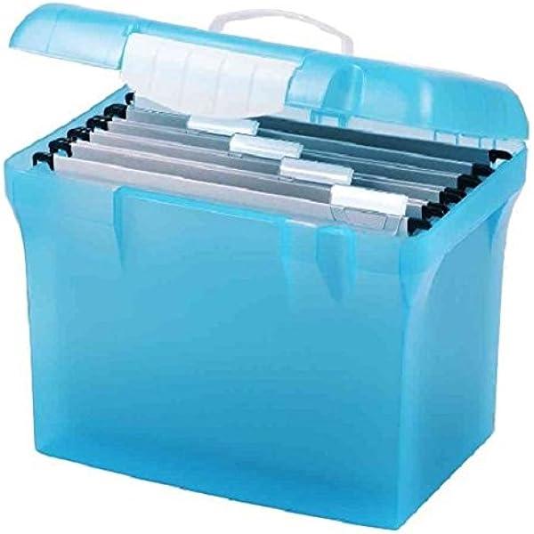 Maletín portadocumentos Oxford de plástico translúcido. Con 5 carpetas colgantes para documentos.: Amazon.es: Oficina y papelería