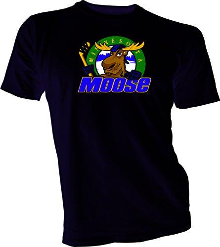 MINNESOTA MOOSE Defunct St. Paul MN IHL Hockey Retro Black T-SHIRT NEW XL