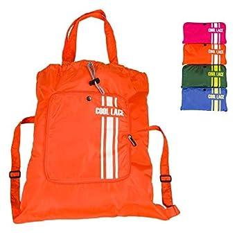 Teeoff Bolso Plegable, Mochila Deportiva, Bolso Cordón para Mujer Hombre, Naranja: Amazon.es: Deportes y aire libre
