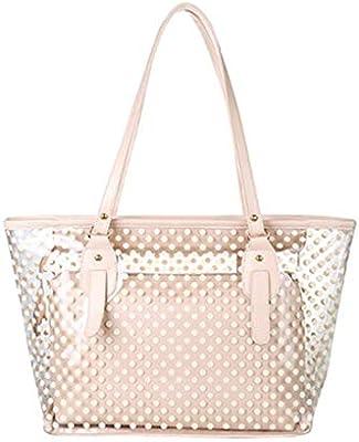 tclo Thing funda transparente transparente funda con cartera Casual Bolsillos hermoso Bolsa de la compra Unisex elegante mujer Candy Bag bolso de mano