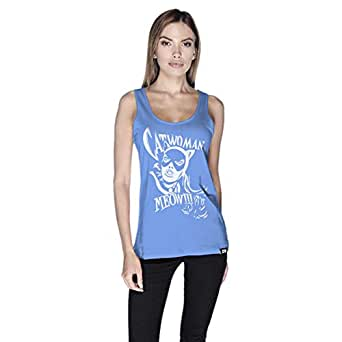 Creo Catwoman Poster Tank Top For Women - S, Blue