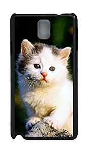 Samsung Note 3 Case Cat waiting PC Custom Samsung Note 3 Case Cover Black