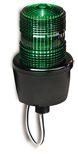 Federal Signal LP3M-120G Streamline Low Profile Strobe Light, Male Pipe Mount, 120 VAC, Green