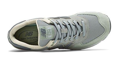 Ny Balans Mens 574 Orm Luxe Sneaker Grönt