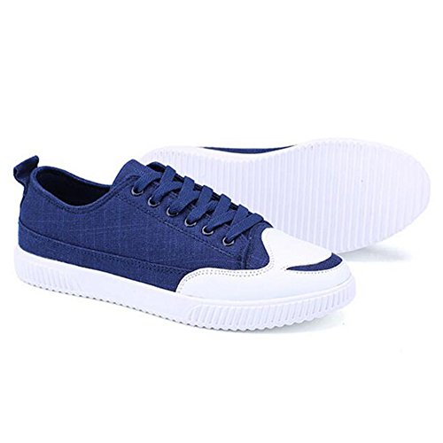 41 Color Resistant Blue Leisure Feifei Spring 8 Shoes Canvas Wear and CN42 UK7 Size Shoes 3 5 Fashion Autumn EU Men's Colors pTSqO8