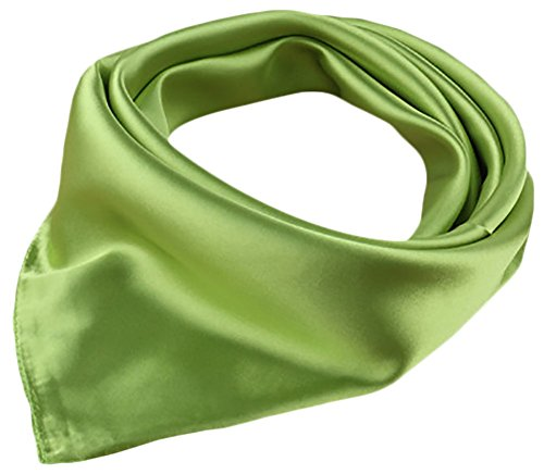 - X&F Women's Solid Satin Charmeuse Neckerchief Square Scarf 23