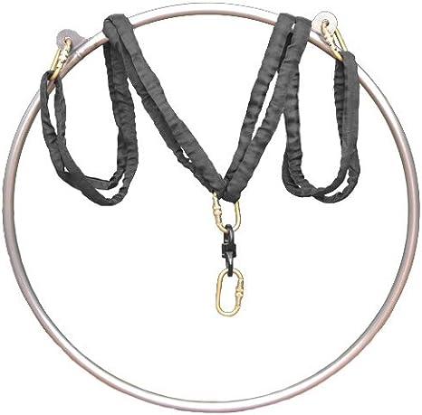 VEVOR 85cm Professional Aerial Hoops Equipment Stainless Strength Tested 770lbs Capacity Lyra Hoop Single Aerial Rings Set