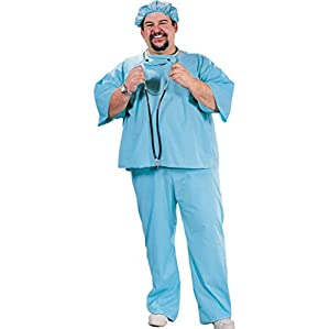 AMSCAN Doctor Halloween Costume for Men, Plus Size, with Included Accessories