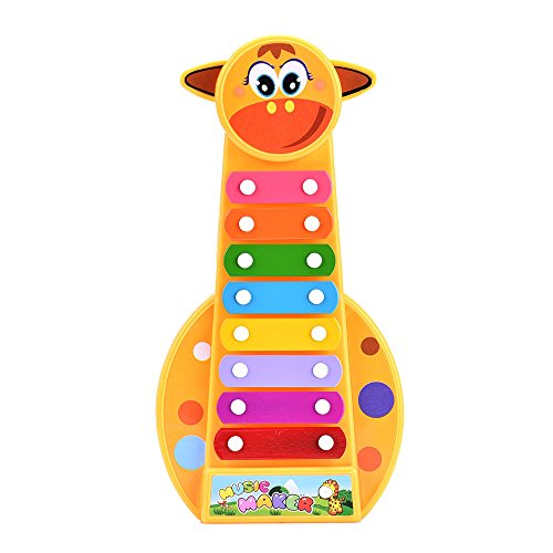 Zaidern Kid Baby Musical Instrument 8-Note Xylophone Toy Wisdom Development Toys Great Gift for Kids/Baby/Children/Adults ()