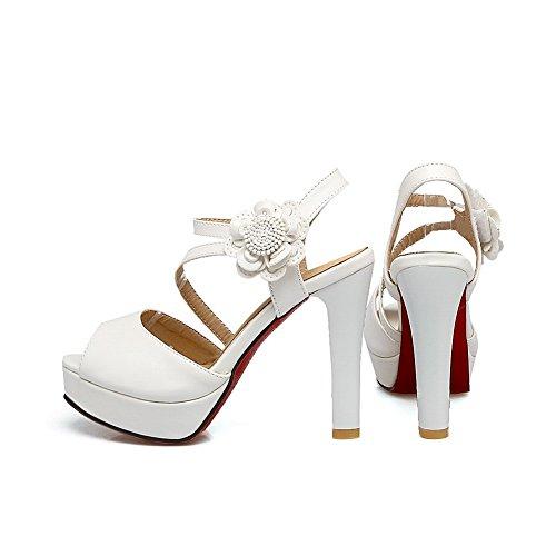 Bianco ASL05367 White EU 35 BalaMasa Donna Ballerine Pzxp77qH
