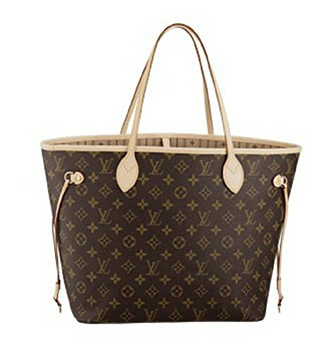 Neverfull Style Designer Woman Organizer Handbag Monogram Tote Shoulder Fashion Bag MM Size ()