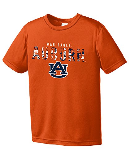 NCAA Youth Boys Digital Camo Mascot Short Sleeve Polyester Competitor T-Shirt, Auburn Tigers, Orange - Youth Medium