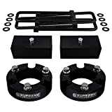 Supreme Suspensions - Full Lift Kit for 2005-2019 Toyota Tacoma 3' Front Lift Strut Spacers + 2' Rear Lift Blocks + Square Bend U-Bolts