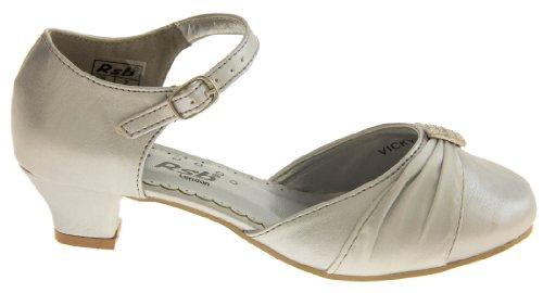 Footwear Studio - Sandalias de vestir para niña Plata