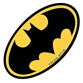 Shaped batman logo stickers prizes and giveaways 50 per pack by smilemakers