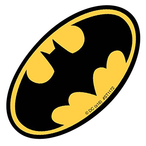 SmileMakers Shaped Batman Logo Stickers - Prizes and Giveaways - 100 per Pack by SmileMakers