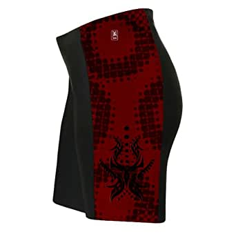 Black & Red Tribal Triatlon Shorts for Women - Size XS